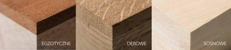 Gatunki drewna okna drewniano - aluminiowe